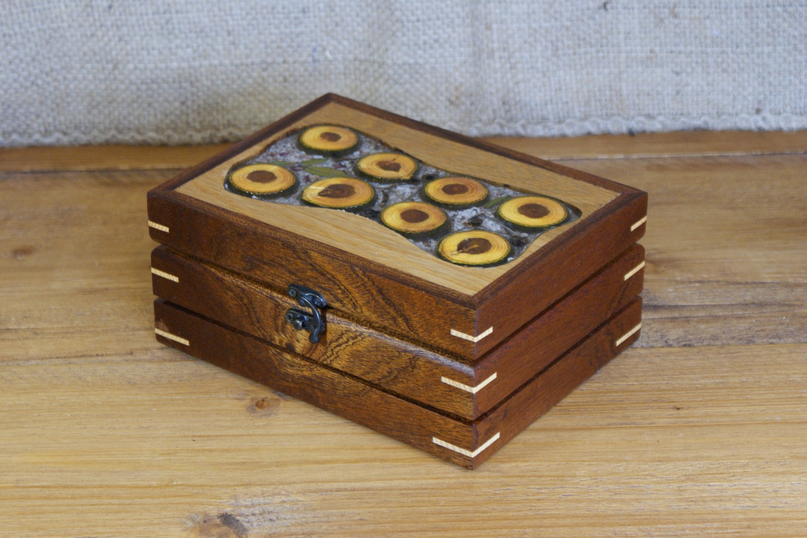 Sliced Log Trinket Box