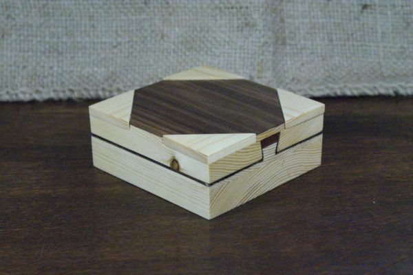 Dark Wood Secret Lock Box