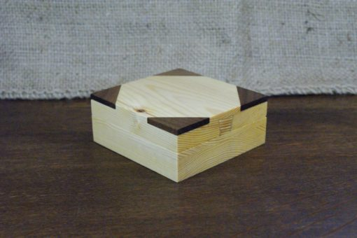 Light Wood Secret Lock Box